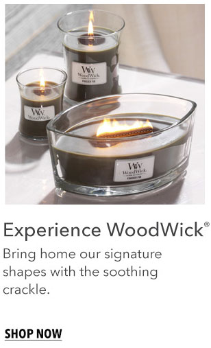 Discover WoodWick: Bring home our signature shapes with the soothing crackle. Shop Now
